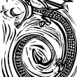 Woodcut Dragon — Vetorial Stock #5100043