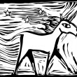 Woodcut Unicorn — Vetorial Stock #5100060