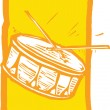 Snare Drum — Stock Vector