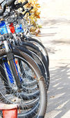 Bicycle parking zone — Stock Photo