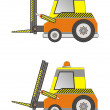 Stock Vector: Electric forklift truck isolated on white