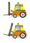 Electric forklift truck isolated on white — Vector de stock
