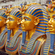 Stock Photo: Number of statues of pharaohs in gift shop