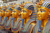A number of statues of pharaohs in the gift shop — Stock Photo