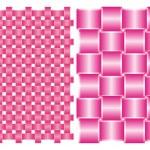 Set of backgrounds, interlocking pink silk ribbons — Stock Vector #5167975