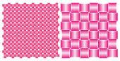 Set di sfondi, nastri di seta rosa ad incastro — Vettoriale Stock