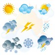 Set of weather icons day and night — Stock Vector #5358853