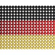 Flag Germany made from hundreds of colored balls — Stock Photo