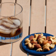 Cocktail And Mixed Nuts — Stock Photo