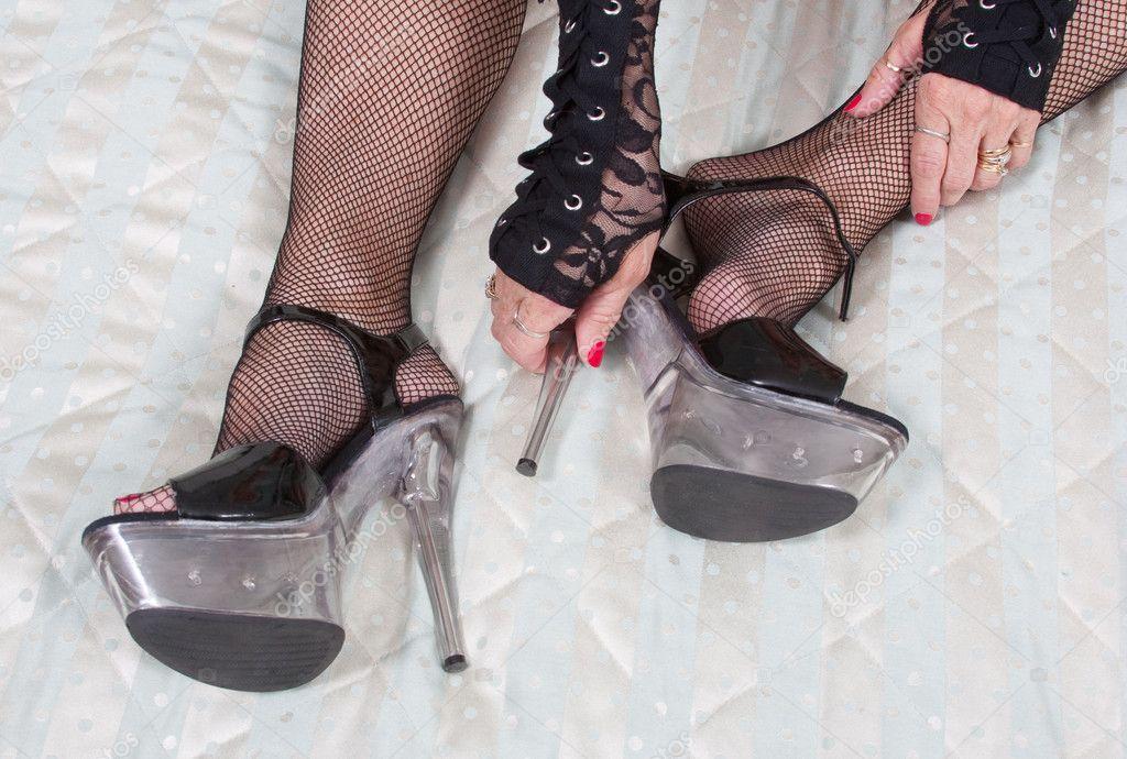 фото каблуки чулки