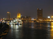Different shots of Cairo and the river Nile at night — Stok fotoğraf