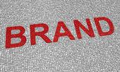 Parola di marca — Foto Stock