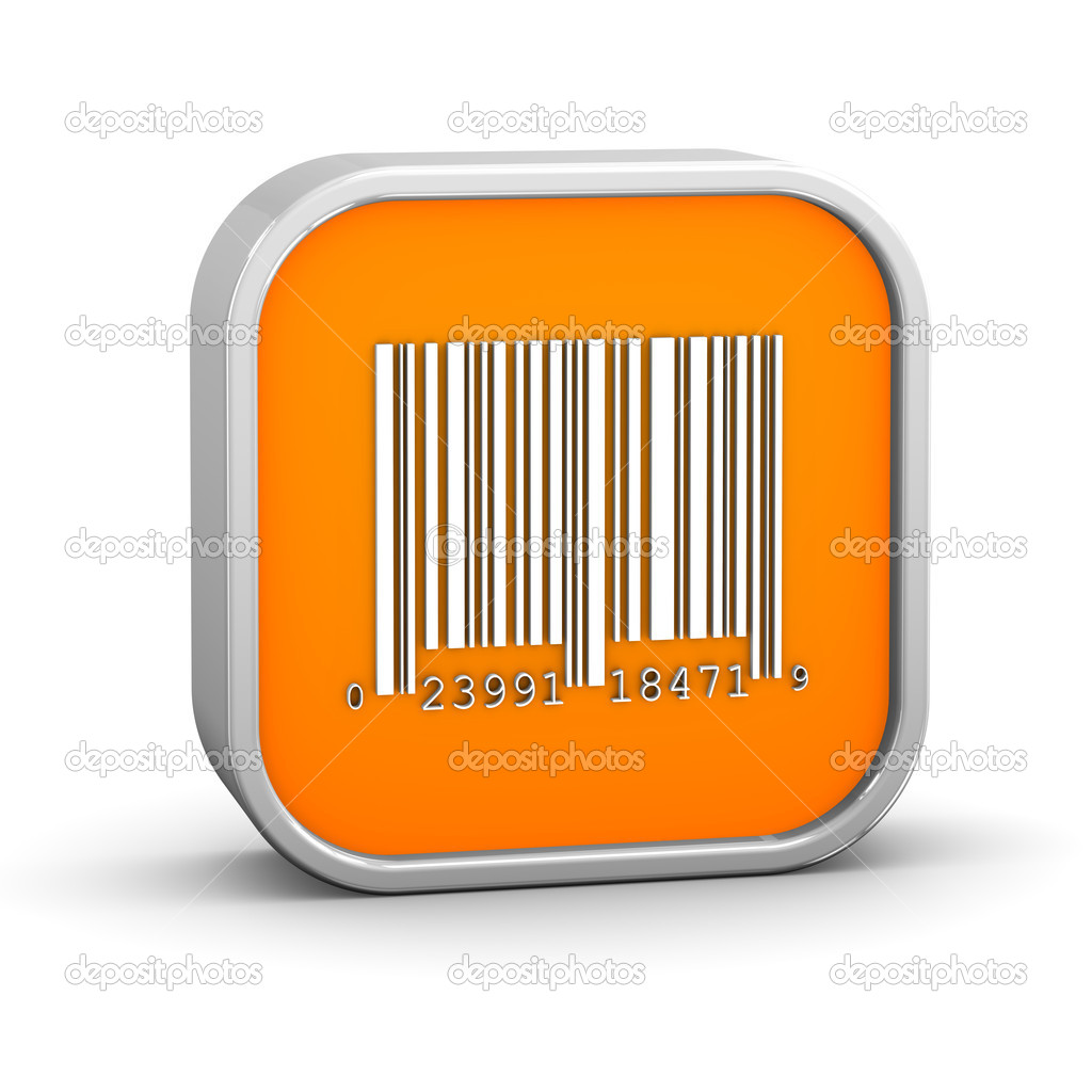 Bar code sign on a white background. Part of a series. — Stock Photo #4909087