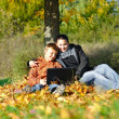 Family in park on autumn — Stock Photo #4166297