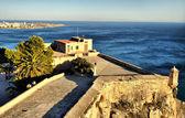 View from patio Santa Barbara Castle in Alicante, Spain — Stock Photo