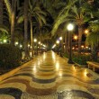 Alicante main promenade, Benidorm, Spain - Stock Photo