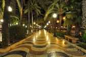 Alicante main promenade, Benidorm, Spain — Stock Photo