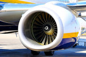 Turbine of aircraft — Stock Photo