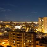 Night panorama city Alicante — Stock Photo