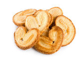 Cookies heart isolated — Stock Photo