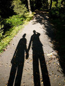 Shadow of lovers — Stock Photo