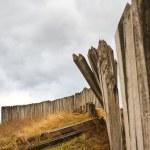 Wooden palisade — Stock Photo