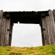 Gate in the palisade — Stock Photo