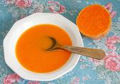 Krémová dýňová polévka — Stock fotografie
