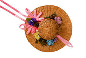 Summer hat for doll — Stock Photo