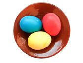 Påsk färgade ägg — Stockfoto