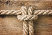 Rope with knots — Stock Photo