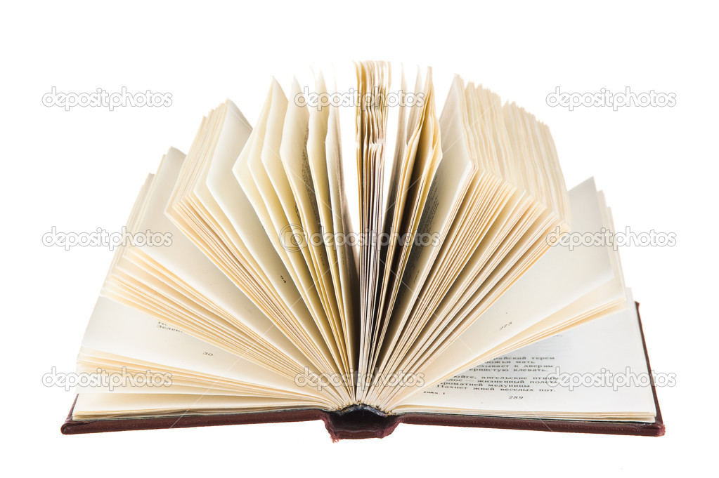 Launched book isolated on white background  Stock Photo #5211140
