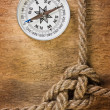 Compass with a rope — Foto de Stock