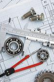 Dettaglio strumenti e meccanismi — Foto Stock
