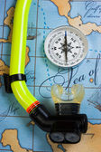 And snorkel diving — Stock fotografie