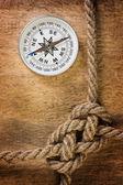 Kompas z liny — Zdjęcie stockowe