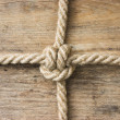 Rope with knots — Stockfoto