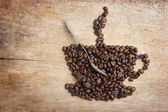 Picture a cup of coffee made from beans — Foto de Stock