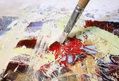 Malerei auf strukturierter leinwand — Stockfoto