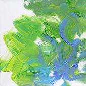 キャンバスに描かれたアクリル手 — ストック写真