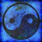 Yin and yang background — Stock Photo