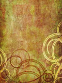 Swirls on old paper background — Stock Photo