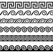 Meander and wave. Ancient Greek ornament. — ストックベクター #4240492