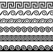Meander and wave. Ancient Greek ornament. — Stock Vector