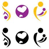 Pregnancy and motherhood symbol. — Stock Vector