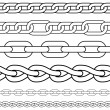 Chain. Set of seamless vector borders. - Stock Vector