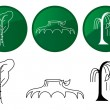 Trees. Vector icons set. — Stock Vector