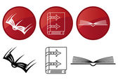 Books, vector icons set. — Stock Vector