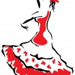 Royalty-Free Stock Vector Image: Flamenco dancer.