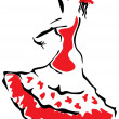 Stock Vector: Flamenco dancer.